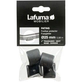 Lafuma Mobilier Footbar Protector Ø25mm 4 stuks, anthracite